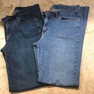 Aura by Wrangler Jeans (2 pair)
